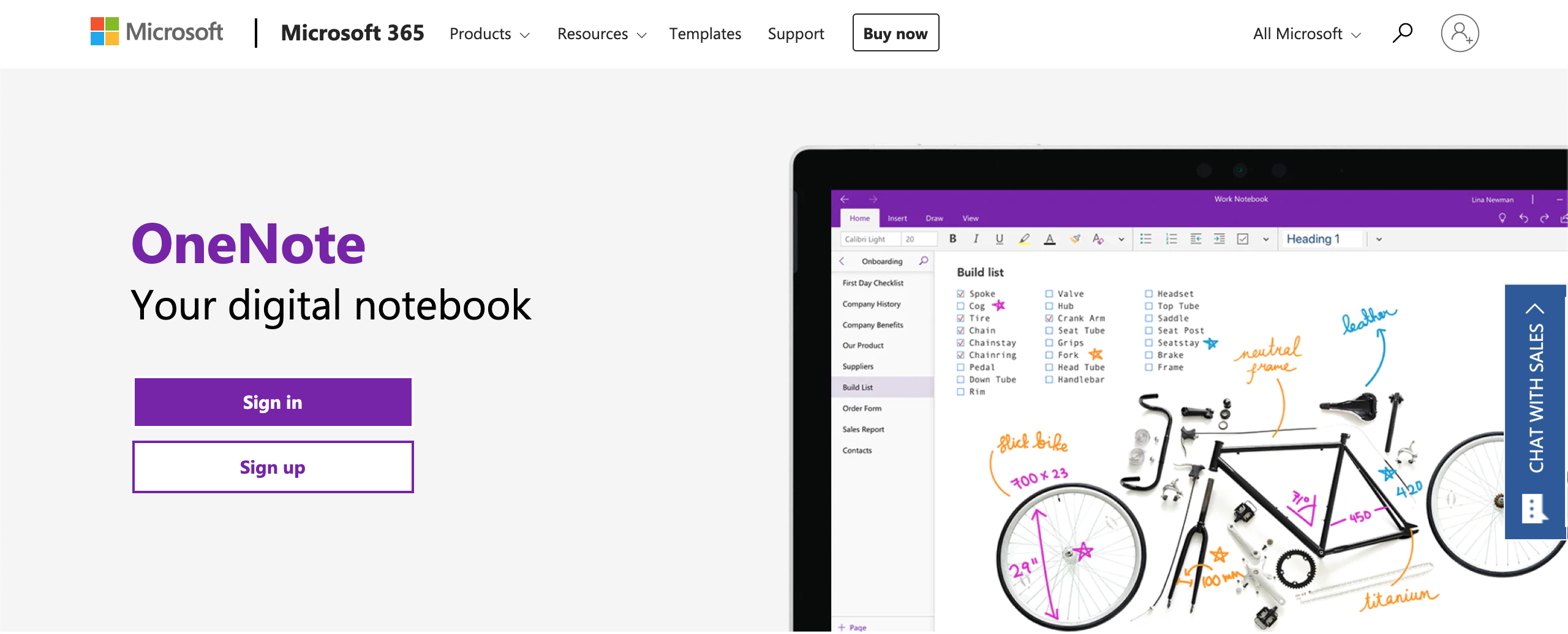OneNote for the web